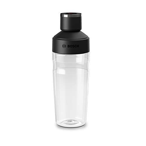 Botella ToGo de 500 ml, apta para batidora de vacío VitaMaxx, sin BPA, irrompible, transparente/negro