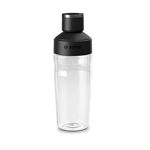 Bosch MMZV0BT1 Togo-Botella con válvula batidora de vacío Vita Maxx, 500 milliliters, Tritan, Negro, Transparente
