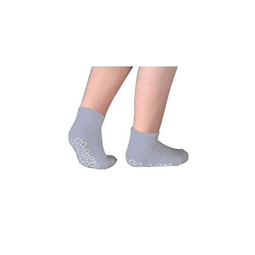 Single Tread Patient Safety Footwear with Terrycloth Interior, X-Large, Grey