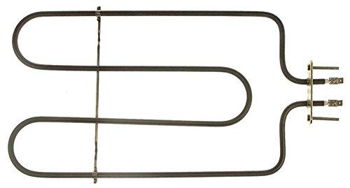 Roller-Grill Heizkörper für Backofen für Grillfunktion 700W 110V Länge 330mm Breite 186mm Anschluss Flachstecker 6,3mm B1 77mm