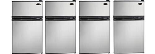Danby DCR031B1BSLDD 3.1 cu. ft. 2 Door Compact Refrigerator, Steel (Pack of 4)
