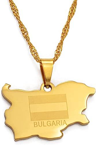 BACKZY MXJP Halskette Die Republik Bulgarien Anhänger Halskette Gold Farbe Schmuck Geschenke