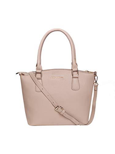 Lino Perros Womens Beige Leatherette Hand Bag (Beige)