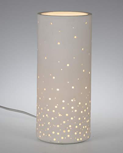 Dekorative Tischlampe aus edlem Porzellan mit elektrischer Beleuchtung Modell 30208 H 37 cm (OHNE LEUCHTMITTEL)