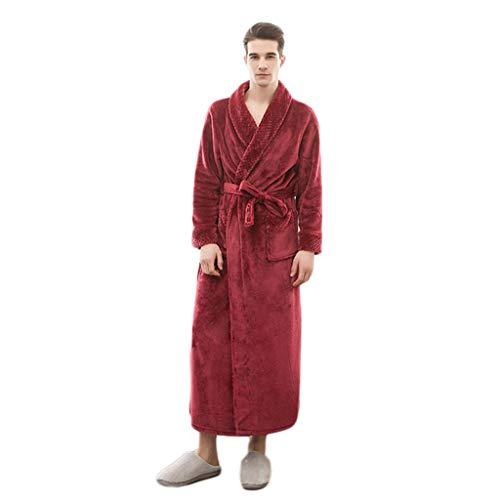 AMINSHAP volledige lengte fleece robe, lange flanel badjas kimono warm roze badjas nacht bont roben bruidsmeisjes badjas mannen nachtkleding dikke kimono roben voor vrouwen