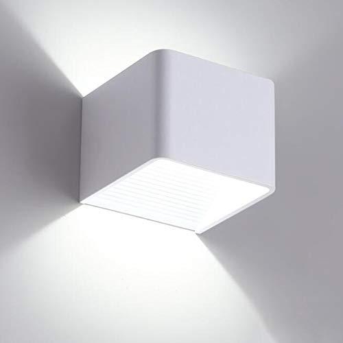 NGXL Led Wall Lights 5W Innen Up Down LED Wandleuchte Innen Holz Wandlampe Aluminium Nachtlampe Warmweiß Für Wohnzimmer Schlafzimmer Flur Treppe Küche Esszimmer Innenbeleuchtung,Weiß