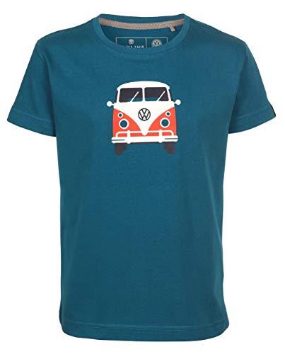 Elkline Kinder T-Shirt Teeins mit VW Bulli Print, Größe:104/110, Farbe:Blue Coral
