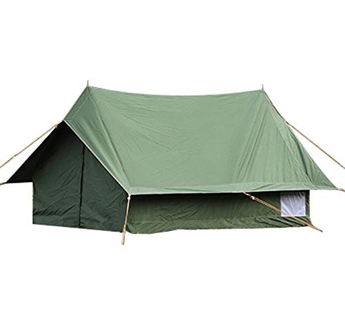 DANCHEL OUTDOOR Light Weight 2-3 Person Cotton Canvas Cabin Wall Tent for Camping Backpacking (80x60x46inch, Green)