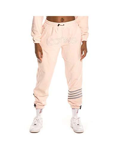 GRIMEY Pantalón Chica Sighting in Vostok Polar Fleece Pants FW19 Pink-M