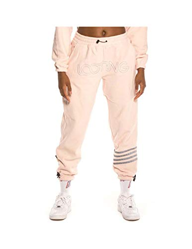 GRIMEY Pantalón Chica Sighting in Vostok Polar Fleece Pants FW19 Pink-M