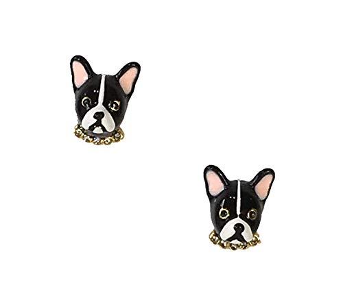 Kate Spade Ma Cherie Antoine French Bull Dog Stud Earrings