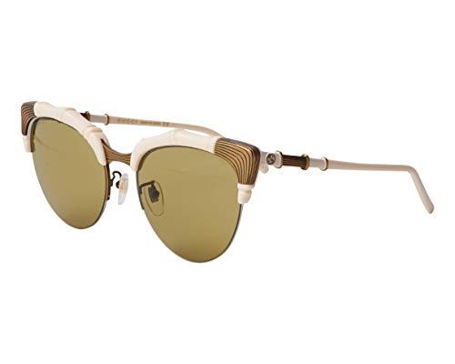 Gucci GG-0661-S 003 - Gafas de sol, color blanco, dorado y verde