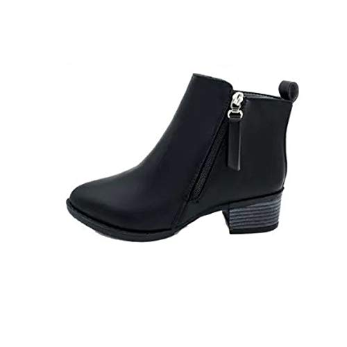 Kanlin1986 BBotas Mujer Botines Mujer Invierno 2019 2020 OtoñO Invierno Zapatos De Mujer Botines De Moda Vintage BBotas De Mujer Zapatos con Cremallera Lateral