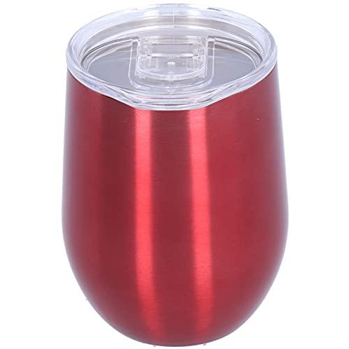 Vino Rojo de 12 oz de Doble Capa de Acero Inoxidable con Aislamiento de Copa de Vino, Viaje con Tapa hermética y Reutilizable, Puede Guardar Vino, café, cócteles