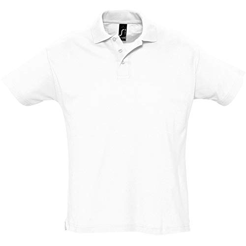 SOLS Summer II - Polo à Manches Courtes - Homme (XL) (Blanc)