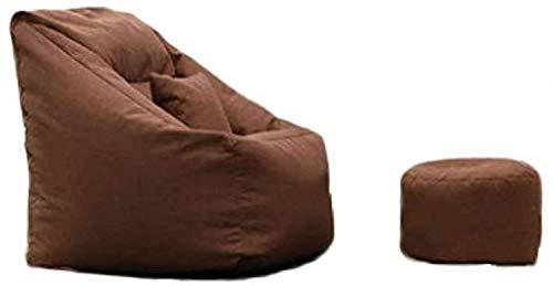 Sofá perezoso Silla perezosa del sofá Descargas digitales Balcón colorido de la personalidad creativa de algodón Beanbag Sofá Dormitorio lindo individual del tatami Mini silla de salón cómodo, Brown,