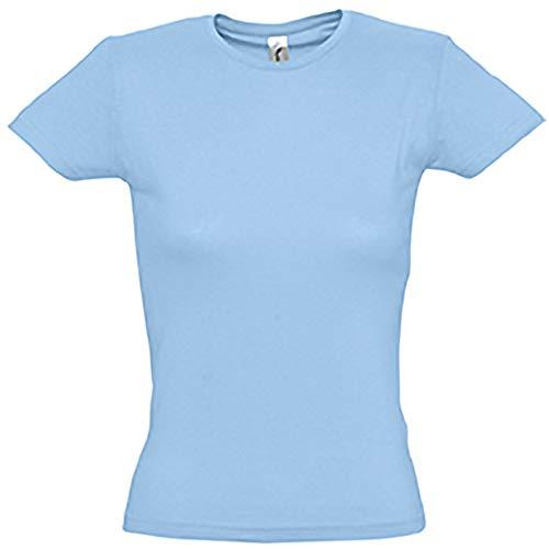 SOLS- Camiseta de manga corta Miss para chica/mujer (XXL/Amarillo limón )