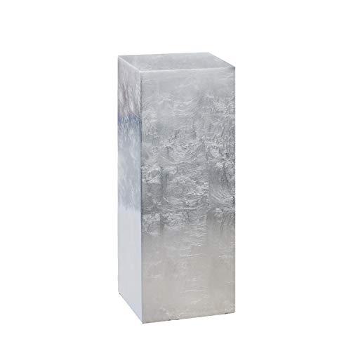 Casablanca - Deko-Säule aus Poly/Fiberglas - Silber Höhe 70 cm Breite 27 cm