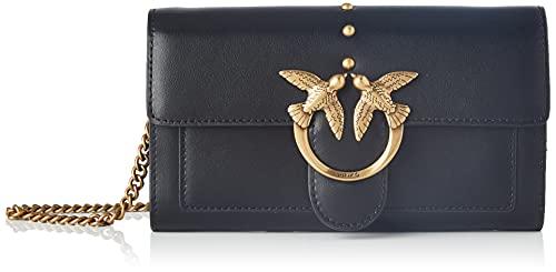 Pinko Love Wallet Simply 5 C Vit.Set, Accessori da Viaggio-Portafogli Donna, Z99_Nero Limousine, U