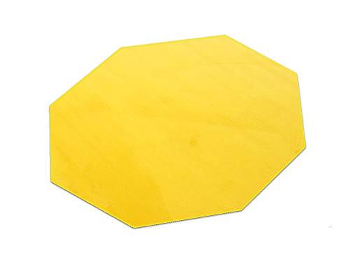 HEVO Romeo gelb Teppich | Kinderteppich | Spielteppich 200 cm Achteck