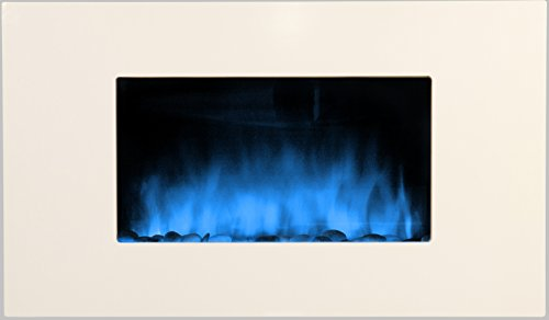 Chemin'Arte 085 - Chimenea eléctrica (90 x 16 x 56 cm), color blanco