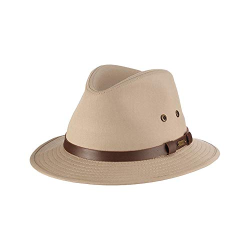 Stetson Men's Gable Rain Safari Hat, Khaki, Large