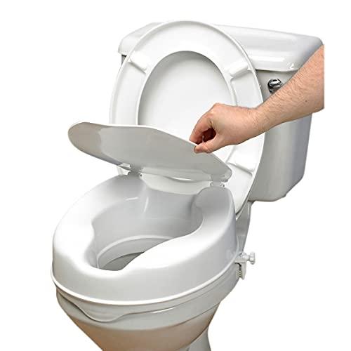 Ayudas tecno dinamicas, s.l. - Elevador de WC, con tapa, 10 cm, Único