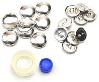 くるみボタンキット 包み つつみ パーツ (打ち具付) 18mm 9組入 (足付きタイプ) 3パッケージセット