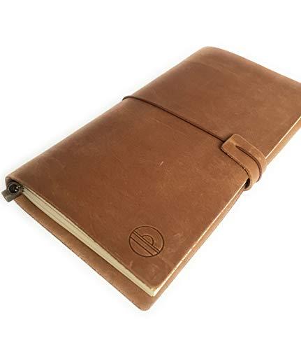 Cuaderno de piel genuina. Estilo Midori. Cuaderno de viaje. Travel diary. Travelers notebook, 22 x 12cm Hecho en Barcelona