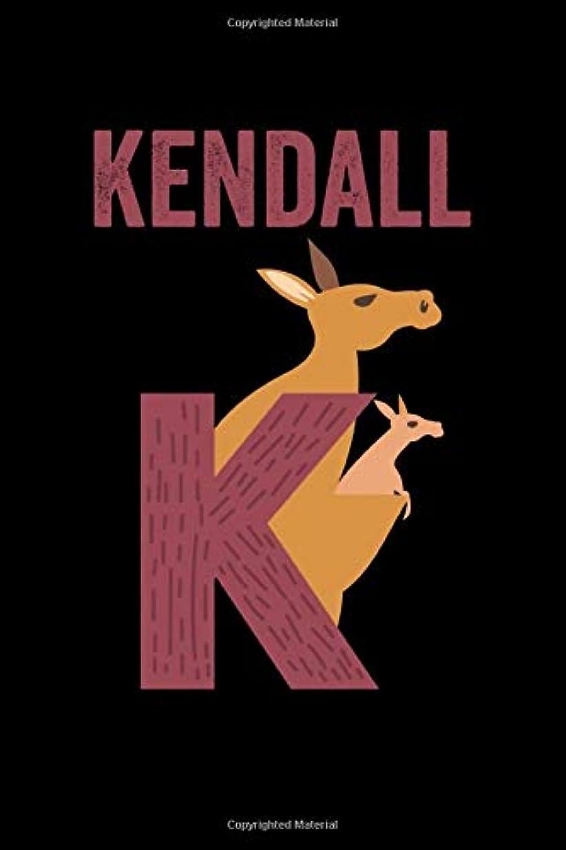 酸度品揃え無人Kendall: Journal (Diary, Notebook) Personalized Custom Name Alphabet Kangaroo Birthday Gift for Boys