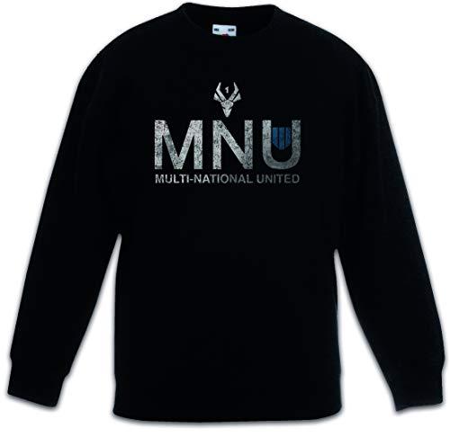 Urban Backwoods Mnu Logo Kinderen Jongens Meisjes Sweatshirt Pullover Trui Schwarz