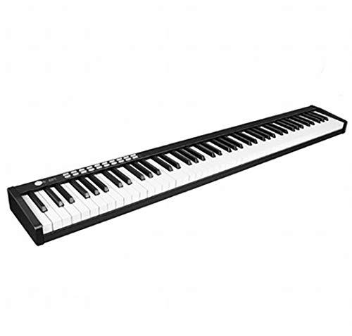 IG Electrónicos Portátiles Clave Del Piano 88 Rollo de la Mano Inicio Principiantes de Piano Maestro de Jardín Teclado Profesional (Transposición Bluetooth Versión),Negro,88Key