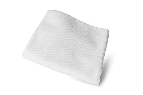 Lettro Paño de Tejido de Rizo de Microfibra Blanca Pulir y Abrillantar Botas de Cuero, Paño de Microfibra para Abrillantar Todos los Artículos de Cuero