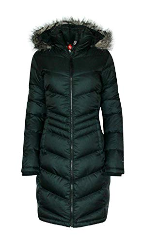 Columbia Womens Polar Freeze Long Down Jacket Omni Heat Black Winter Coat (Small)