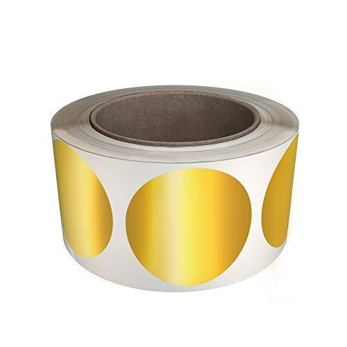 Klebepunkte Gold 50 mm runde Punkt Aufkleber – in verschiedenen Farben Größe 5 cm Durchmesser Etiketten 600 Vorteilspack von Royal Green