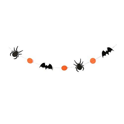 Demarkt Halloween-spinnen vleermuis papier vlaggetjes banner vlaggen kleurrijke slinger Halloween Party Decoratie