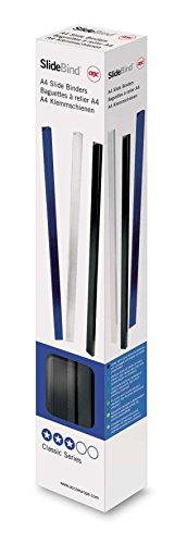 GBC 46000E - Lomeras de encuadernación DIN A4 5 mm (caja 25) color negro