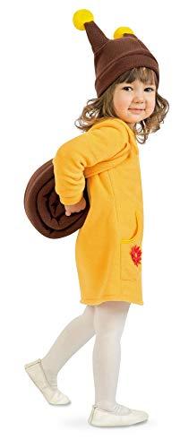 shoperama Kleine Schnecke Kinderkostüm für Mädchen Kleid und Mütze, Größe:116