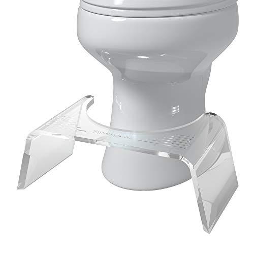 Squatty Potty Ghost Acrylic Toilet Stool, 7'