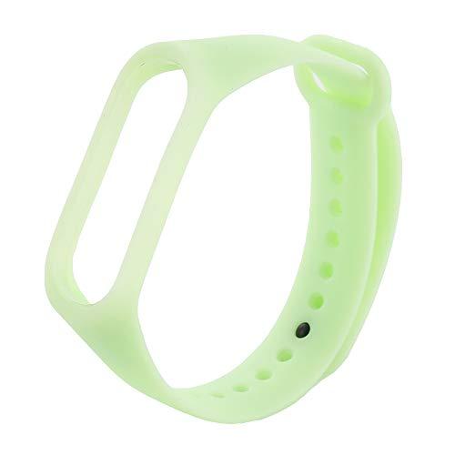 AHHYH Mi Band 3 Bandjes Lichtgevende Armband Vervanging Polsbanden Horloge Accessoires voor Xiaomi Mi Band 3, 25x1.8cm, Groen