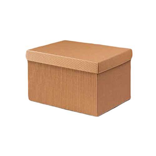 Scatola Baule con coperchio Carta Cartone ondulato Avana 39x29H24 regalo natale Trunk box with lid Paper Brown corrugated
