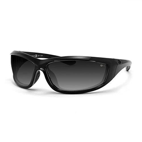 Bobster Charger Sunglasses, Black Frame/Smoke Lens