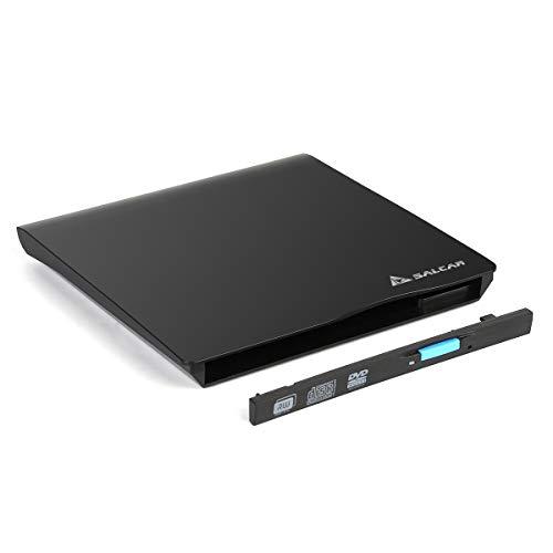 SALCAR Laufwerksgehäuse extern Slimline SATA USB2.0 (External Super Drive Caddy Box) Plug & Play für 9,5mm CD/DVD Laufwerk Brenner (Schwarz), nur EIN Gehäuse, Keine interne Maschine
