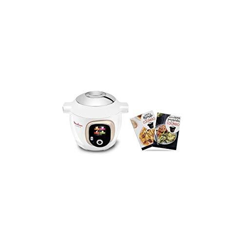 Moulinex - yy4401fb - Multicuiseur intelligent 6l 1600w blanc/chromé cookéo+ 150 recettes + 2 livres