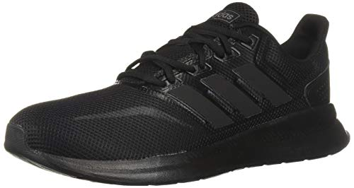 adidas Originals Women's Falcon Running Shoe, Black/Black/Black, 10 M US
