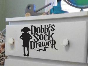 MR WHEEL TRIMS Adesivo per cassetto, Motivo: Harry Potter Dobby, 20 cm, Colore: Nero
