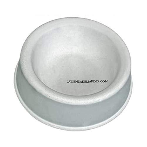 Mangeoire de béton pour chiens. Mesures. Ø28 cm x Haut 9 cm utile pour animaux que à a Morder les mangeoires de plastique.