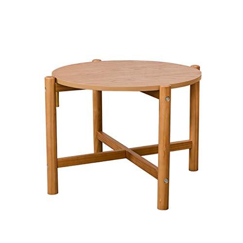 Petite table basse Side Nordic en bois massif Table d'appoint canapé Table basse ronde (taille : 66.4cm*40cm)