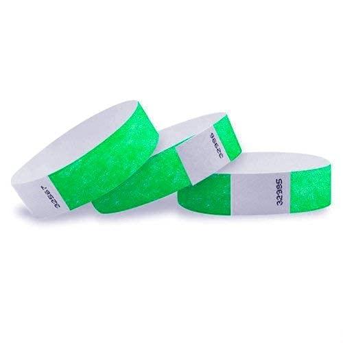 Lote de 100 pulseras de papel tyvek de 19 mm para eventos, festivales - A prueba...