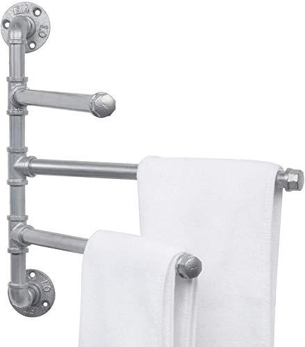 LHXY Toallero Baño Adhesivo Toalleros Barra de Para Baño Hierro Tres brazos Toallero para Baño y Cocina